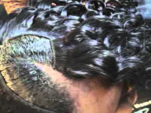 Curly Quick Weave W/ Invisible Part && Side Braids