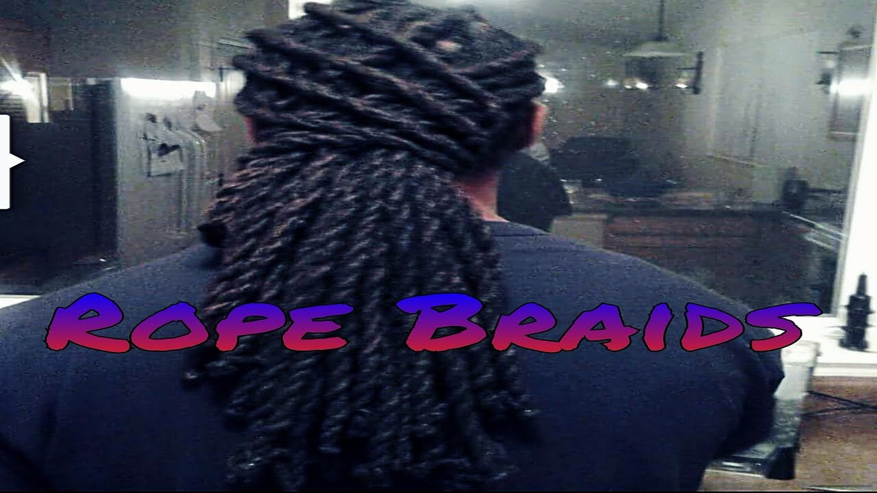 rope braids on dread locs youtube