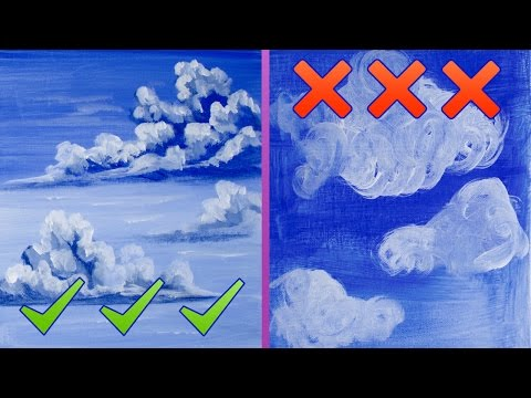 Dos and Don'ts how to paint  better clouds for Beginning Artists