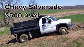 Chevy 3500 Silverado 4wd Dump truck up a slick, clay incline... Will I make it?