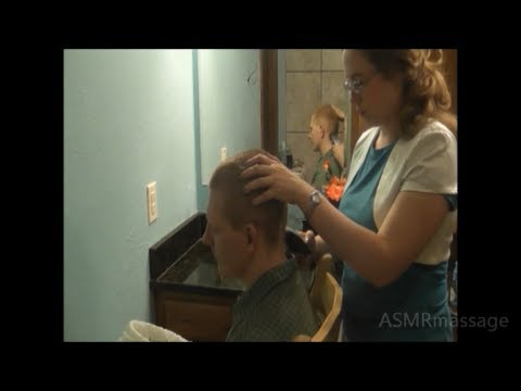 Binaural Haircutting Head Massage - ASMR Soft Spoken