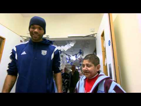 Lescott's banter with young Villa fan Moin