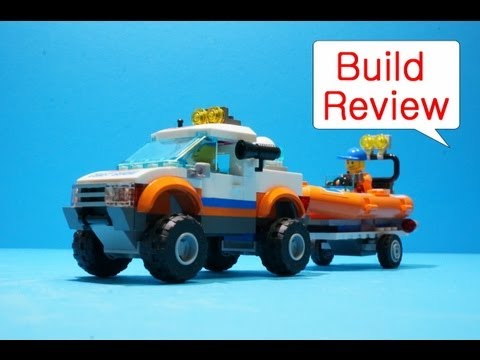 Lego city 60012   4x4 & Diving Boat - Build Review