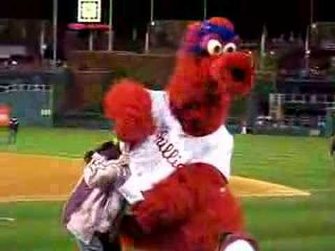 Philly Phanatic Mom Red Phillie Phanatic And