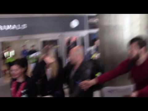 Camera Shy Gwyneth Paltrow Arrives At The Los Angeles International Airport