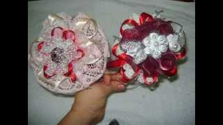 paso a paso de diademas con cintas y encajes/how to make a headband with ribbon and lace