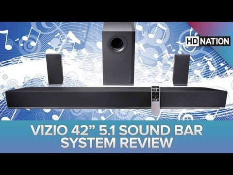 SuperWide HDTV, Vizio 5.1 Sound Bar, 