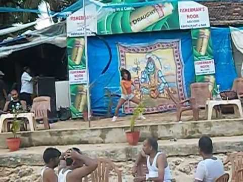 Sexy Goa Babe Dancing In Calangute Beach Shack video