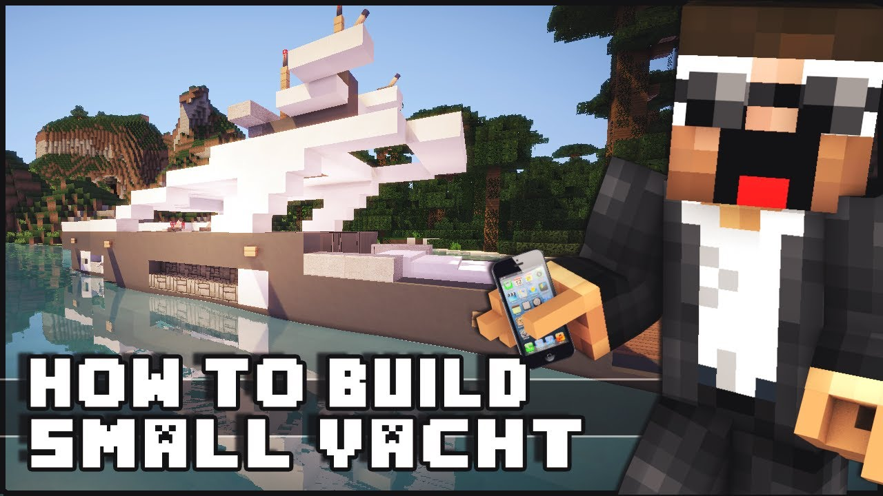 minecraft how to build a yacht tutorial