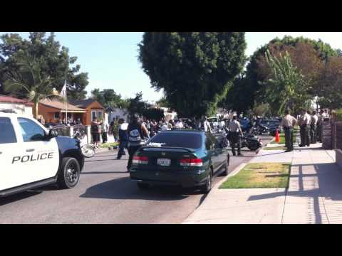 Mongols Motorcycle Gang Party Shut Down In South Gate (hd) video