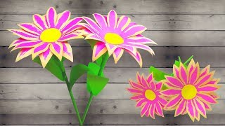 How to Make Paper Flower Easy For Kids   linascraftclub