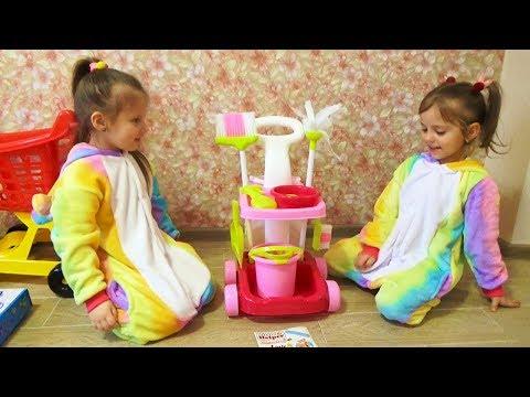 Уборка в комнате ПИКНИК с куклой BABY BORN в палатке принцесс Kids Pretend Play with dolls and toys