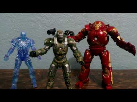 Iron Man 2 Proving Ground Pack K-Mart Exclusive. HulkBuster, Holographic Armor.