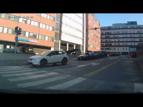 Crashing into a cyclist in Helsinki