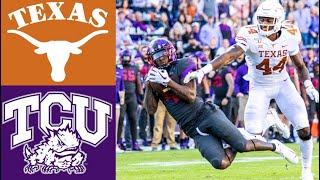 #15 Texas vs TCU Highlights | NCAAF Week 9 | College Football Highlights