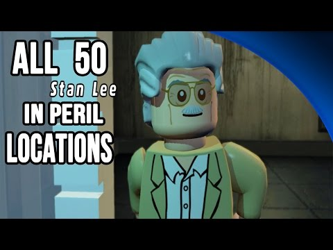 ALL 50 Stan Lee in Peril Locations Guide - LEGO Marvel Super Heroes