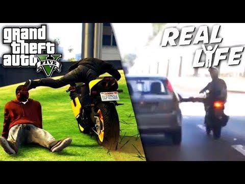 GTA 5 VS REAL LIFE 9 ! (fun, fail, stunt, ...)