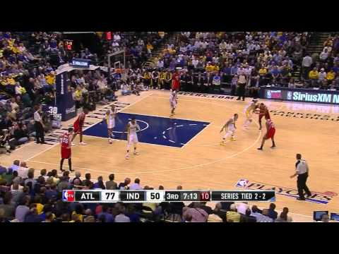 NBA, playoff 2014, Pacers vs. Hawks, Round 1, Game 5, Move 33, Jeff Teague, assist