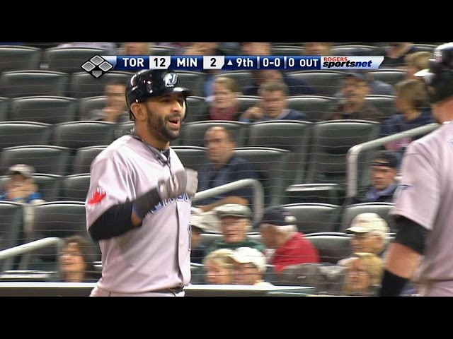 Bautista crushes his 54th homer of the year