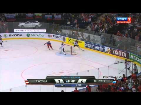 Латвия - Россия 1-4. Все голы. Чемпионат мира по хоккею 2014.