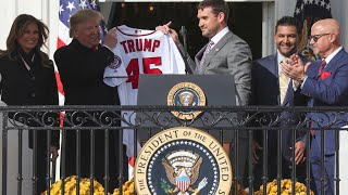 Watch live: Trump welcomes World Series champions Washington Nationals to White House
