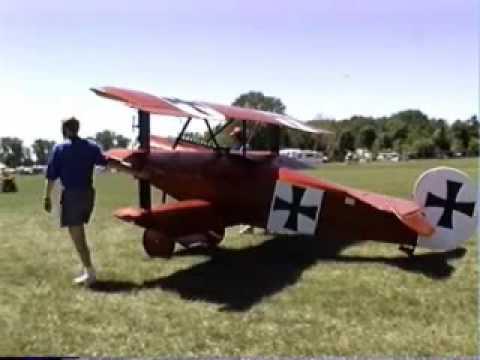 Biplane For Sale >> Fokker DR1 triplane Airdrome Aeroplanes replica WW1 aircraft - YouTube