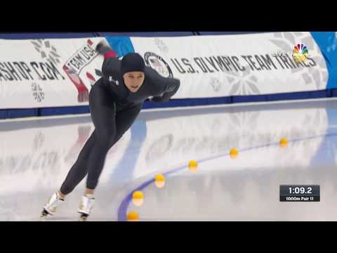 Olympic Long Track Speedskating Trials | Brittany Bowe Qualifies For PyeongChang In The 1,000