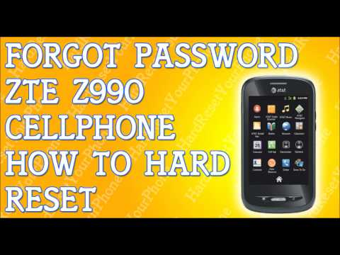 How To Hard Reset A ZTE Score M For Metro PCS Forgot Password | How To