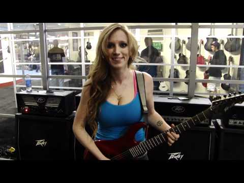 NAMM 2012: Courtney Cox of The Iron Maidens demos the Peavey AT-200 ...