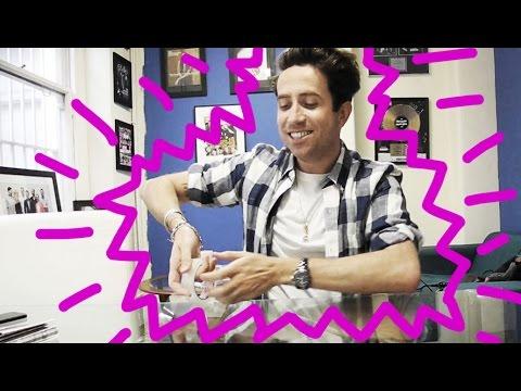 Nick Grimshaw makes himself out of tape