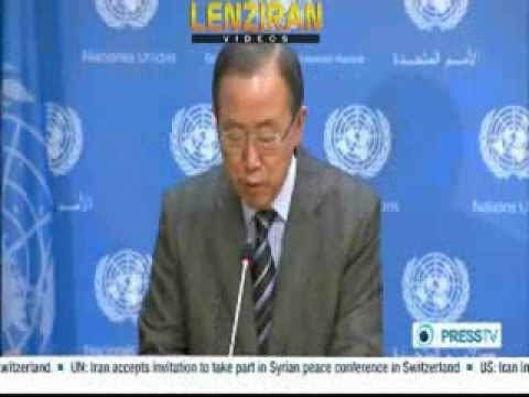 Confusion in Geneva2  :  Ban Ki Moon invites Iran  , US oppose,Syrian opposition withdraw