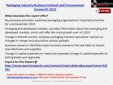 Packaging Industry Business Outlook and Procurement Survey H1 2015