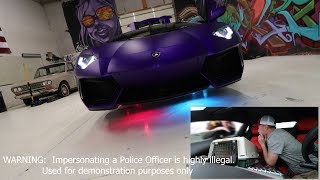 Police NOT HAPPY with illegal Aventador Mods