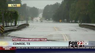 VIDEO: Flooding prompts evacuations in Conroe