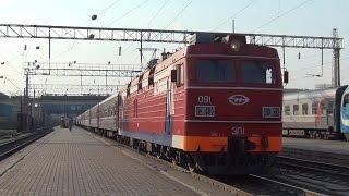 Электровоз ЭП1-091 с поездом №548 Екатеринбург — Анапа