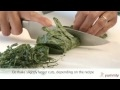 How to Cut Leafy Vegetables