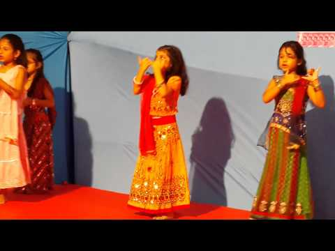 Krisha's Group Dance Performance On radha Teri Chunri video