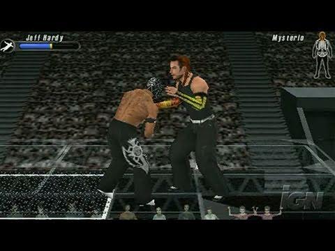 WWE SmackDown vs. Raw 2008 Sony PSP Gameplay - Big Bump