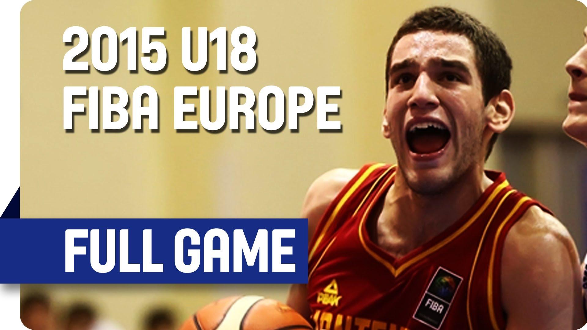 Latvia v Montenegro - Classification 9-16 - Live Stream - 2015 U18 European Championship Men