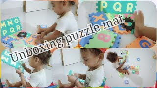 Unboxing puzzle Mat by Krishna || Learning game for kids || Kiddy krishna