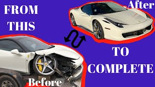 FERRARI 458 Rebuilt From A Salvage Auction in 10 MINUTES !!!!! Saved 70k $$$
