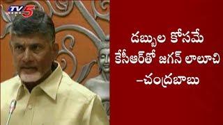 CM Chandrababu Comments on Jagan London Tour   TV5 News