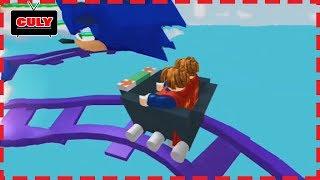 Roblox #1 - xe trượt trên đường ray siêu cao cùng các bạn - cu lỳ chơi game lồng tiếng vui nhộn