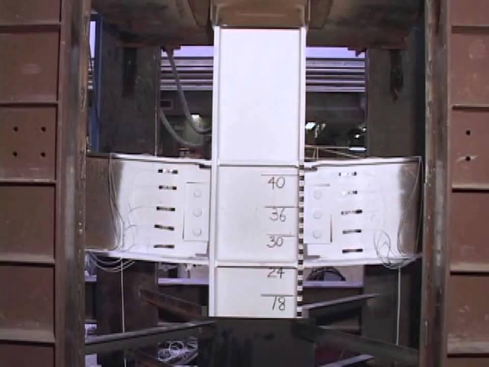 steel beam-column assembly test 1