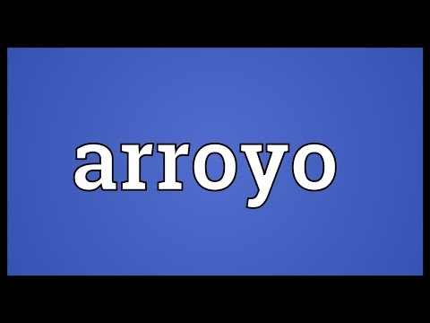 Arroyo Meaning