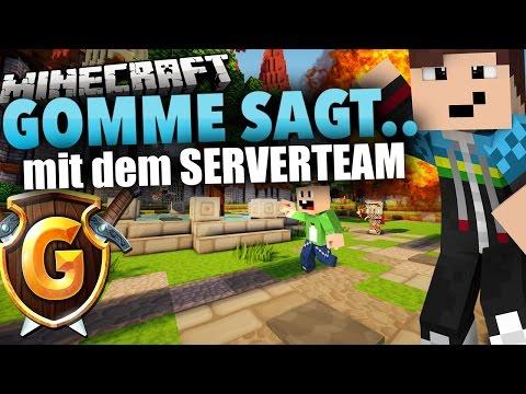 Mit dem GOMMEHD.net TEAM - Minecraft: GOMME SAGT *Eigener Spielmodus*