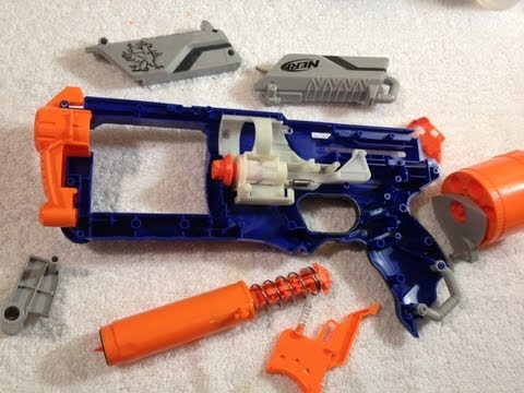 MOD GUIDE: Nerf Elite Strongarm - 100ft+ w/ spring replacment, rear loading, and more