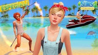 Ilhas Tropicais:TUBARÃO, VULCÃO, CORRENTEZA   The Sims 4