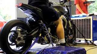 Yamaha MT09 turbo built by Extreme Creations on dyno