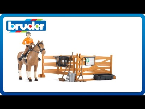 Bruder Toys bworld Riding Set with horse and woman #62500